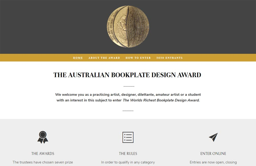 Bookplate Design Award - made with free Nimbo website builder