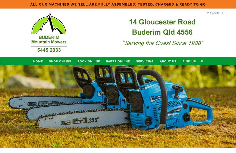 Buderim Mountain Mowers - made with free Nimbo website builder