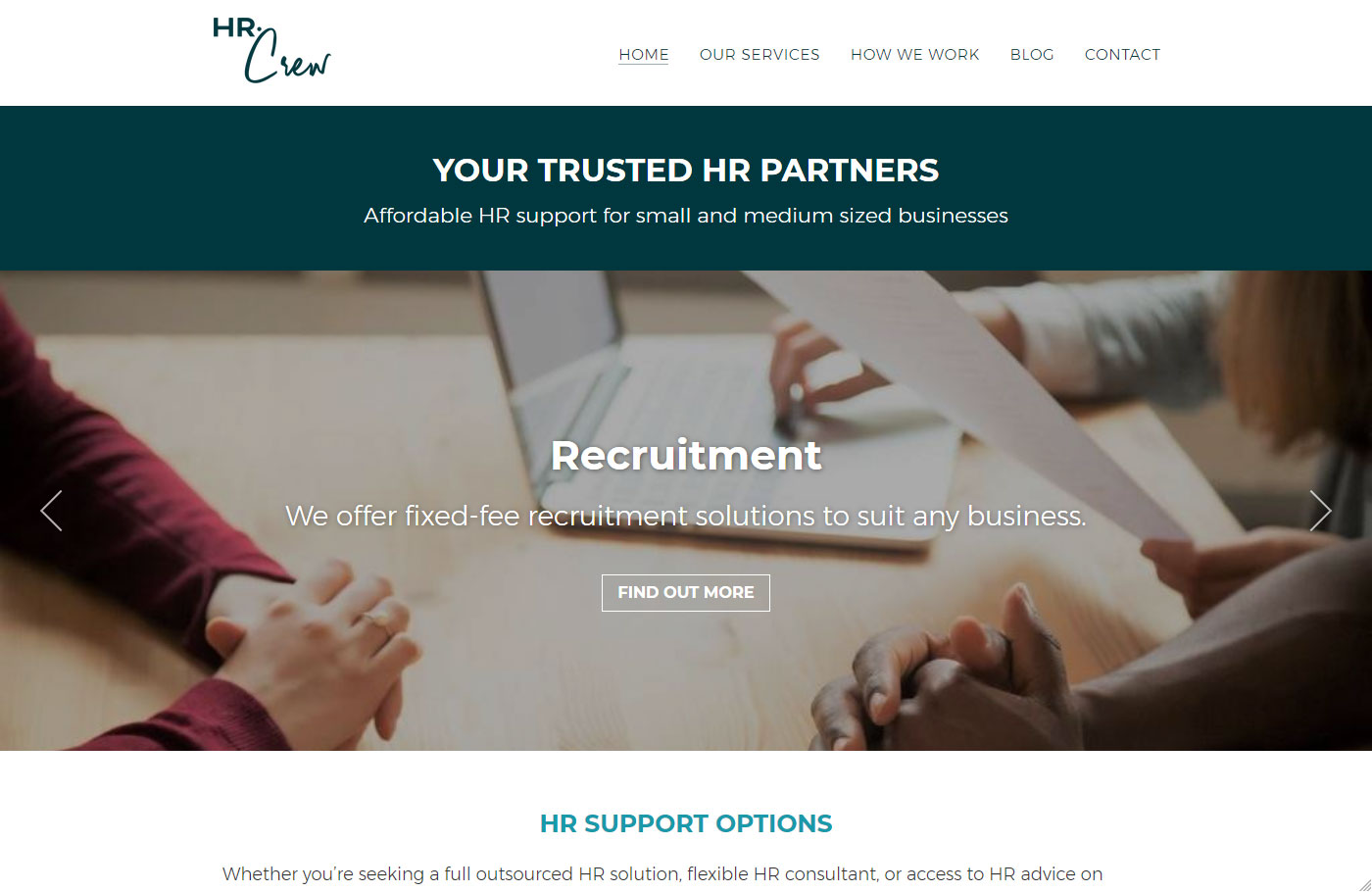 HR Crew - made with free Nimbo website builder