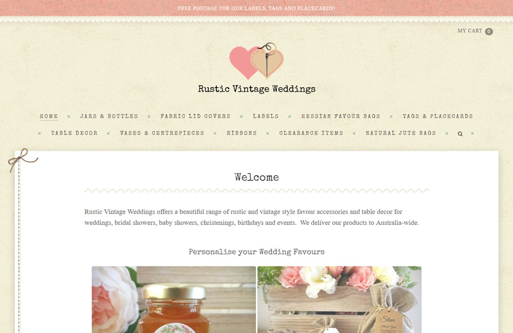 Rustic Vintage Weddings - made with free Nimbo website builder