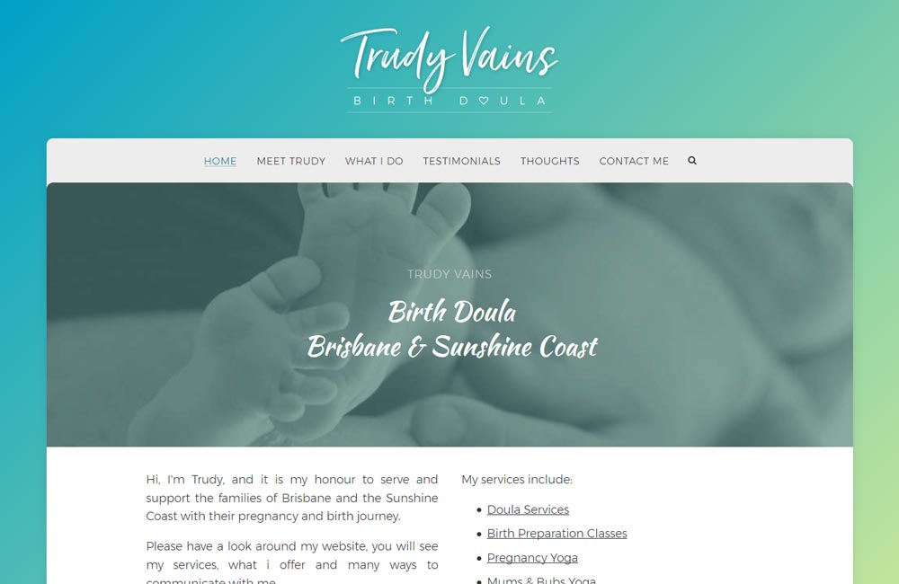 Trudy Vains Birth Doula - made with free Nimbo website builder
