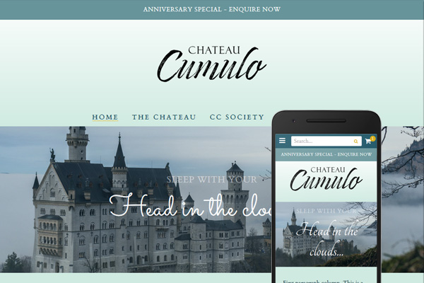 Built with Nimbo website designer - Welcome to Chateau Cumulo