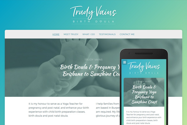 Built with Nimbo website designer - Trudy Vains Birth Doula