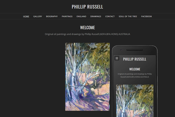 Built with Nimbo website designer - Original oil paintings and drawings by Phillip Russell