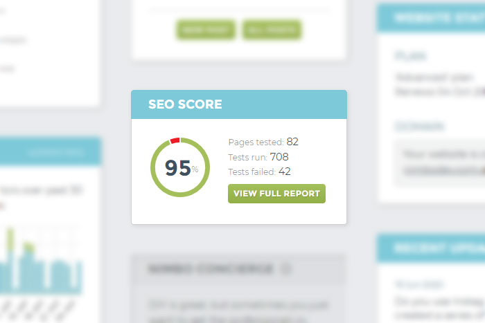 Manage your SEO with Nimbo website builder